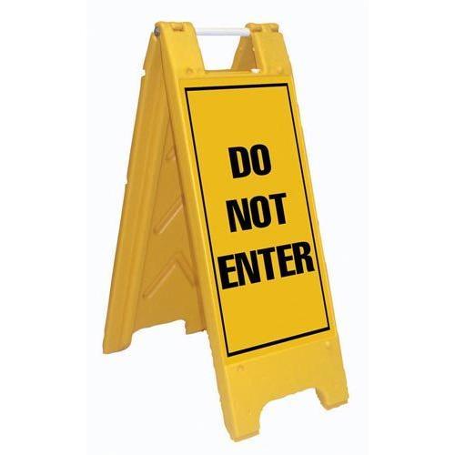 Fold-Up Sign - Do Not Enter