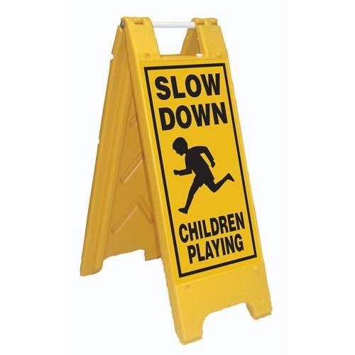 Fold-Up Sign - Slow Down