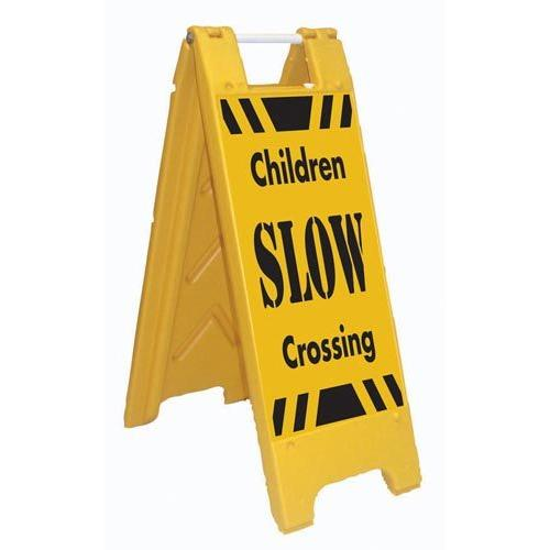 Fold-Up Sign - SLOW Children Crossing