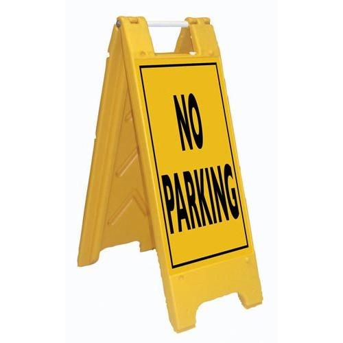 Fold-Up Sign - No Parking