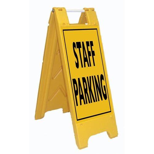 Fold-Up Sign - Staff Parking