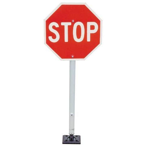 Stop Sign with Fixed Base