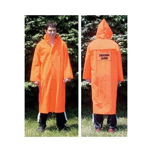 Orange Raincoat W/Emblem-Medium