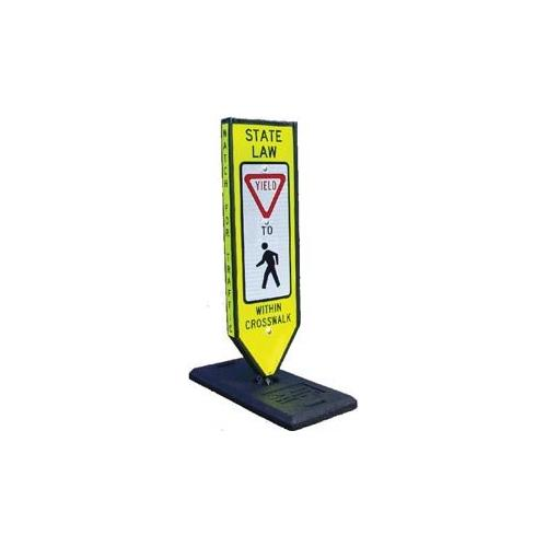 "Safety ""Yield"" Sign-Portable Base"