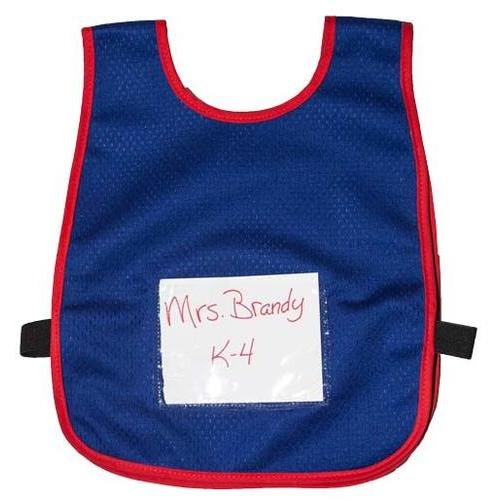 Child Vest w/ sign pouch (Blue w/ Red Trim)