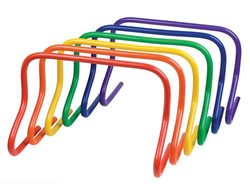 """12"""" Colored Speed Hurdles - Set of 6"""