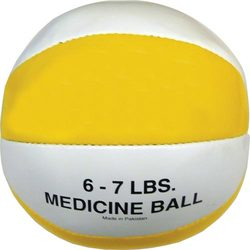 Syn. Leather Medicine Ball - 6-7 lbs. (yellow)