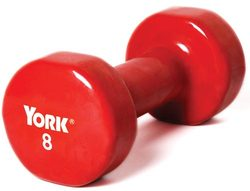 Pair of Vinyl-Coated Dumbbells - 8 lbs