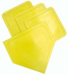 Poly Baseball Bases - Yellow