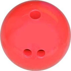 Cosom Rubberized Bowling Ball - 3 lbs (Red)