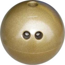 Cosom Rubberized Bowling Ball - 4 lbs (Gold)