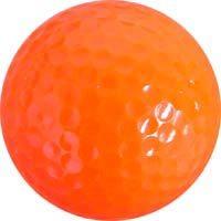 Colored Golf Balls - Orange (Dozen)