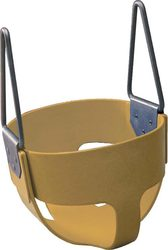 Rubber Enclosed Infant Swing Seat - Tan