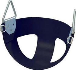 Bucket Rubber Swing Seat - Black