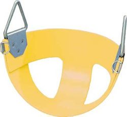 Bucket Rubber Swing Seat - Yellow