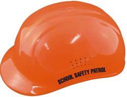 Hi-Viz Orange Helmet w/ Label