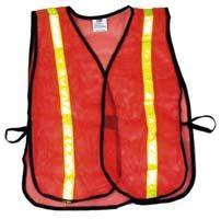 Economy Reflective Mesh Vest - Orange w/ Yellow