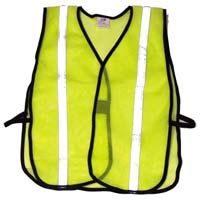 Economy Reflective Mesh Vest - Lime w/ Silver
