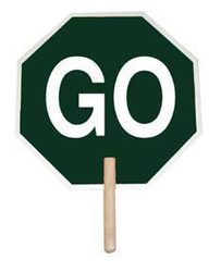 """18"""" Stop/Go Paddle Sign"""