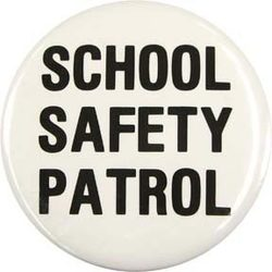 White School Safety Patrol Buttons - ST/12