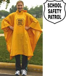 Heavy-Duty Rain Poncho - Yellow w/ Emblem