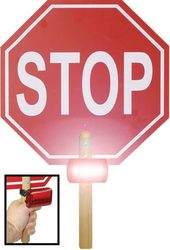 """13"""" Crossing Guard Paddle Stop Sign w/ Lights"""