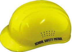 Yellow Crossing Guard Helmet w/ Label