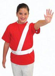 White Safety Patrol Belt - Large