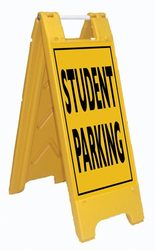 Fold-Up Sign - Student Parking