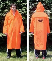 Orange Raincoat W/Emblem-Large