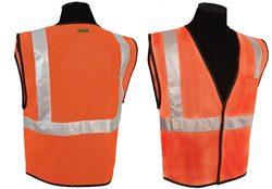 ANSI Class II Compliant Vest - Orange (4XL-5XL)