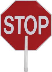 """18"""" Lightweight Paddle Stop Sign"""