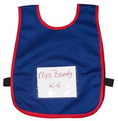 Child Vest w/ sign pouch (Blue w/ Red Trim)