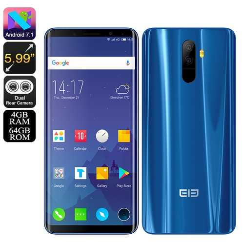 Elephone U Android 7.1 Blue(4+64)