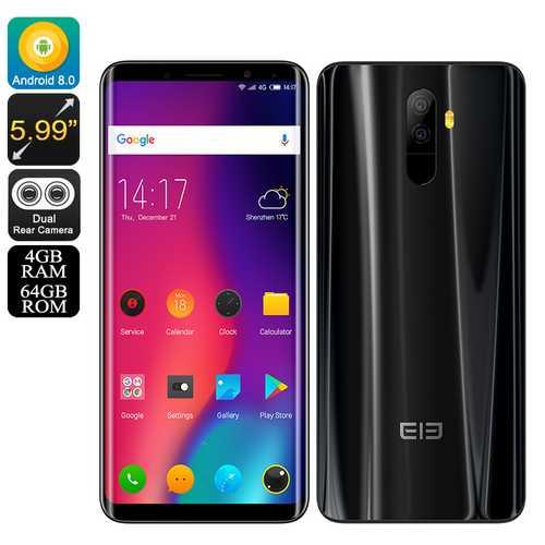 Elephone U Pro Android 8.0 Black (4+64)