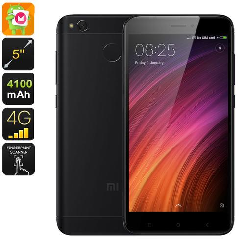 Android Phone Xiaomi Redmi 4X (16GB Black)