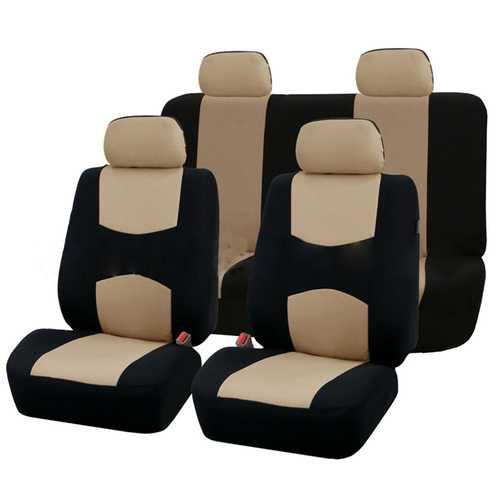 9Pcs Car Seat Covers-Beige