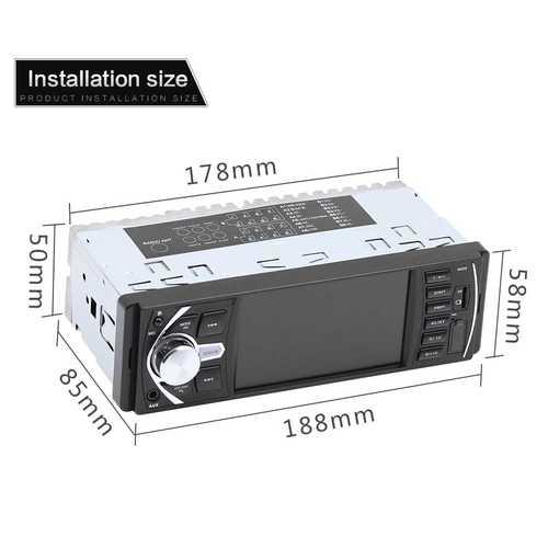 4.1inch Audio Car Mp5 Player FM Car