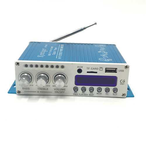 Digital Mini Bluetooth Stereo Amplifier Blue