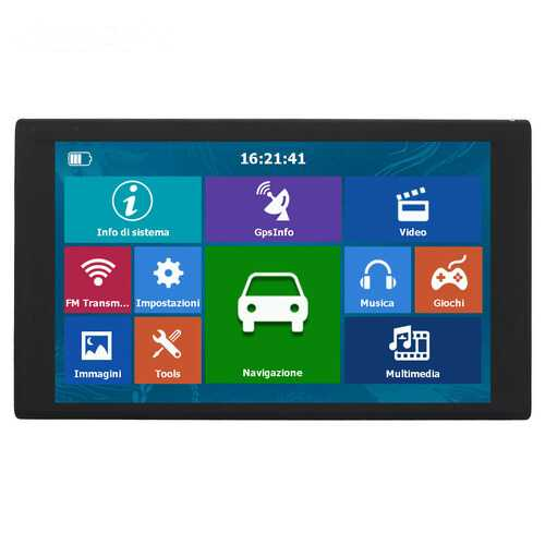 256MB+8G HD 9 inch Capacitive Touch Screen Portable GPS Navigator Southeast Asia map
