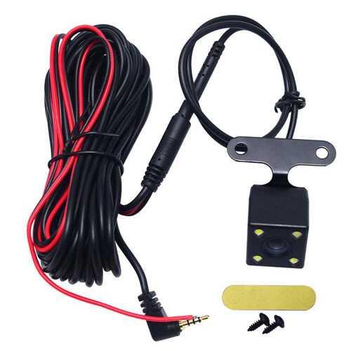 120  Wide Degree Reversing Camera  Car Parking Rear View Camera LED  Lamp Night Vision Backup Waterproof black