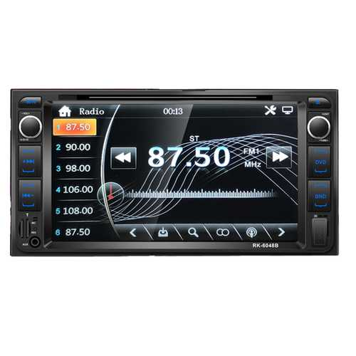 """7"""" Car DVD Player Touch Screen Autoradio Bluetooth DVD/CD/MP3/USB/AUX Car Stereo With Backup Camera With camera"""