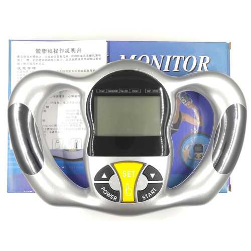 Handheld Body Fat Percentage BMI Scale LCD Weight Calorie Measure Meter Health Monitor Analyzer With packaging