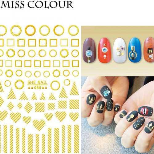 Manicure Nail Sticker Manicure Stickers Accessories Strawberry Rainbow Cherry Stickers Nail sticker_085