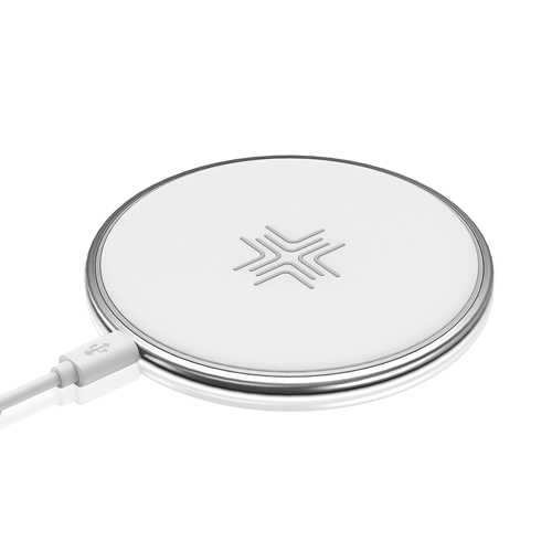 10W Wireless Charger , ROCK Qi Fast Wireless Charging Pad for IPhone X 8 8 Plus Desktop Wireless Charger for Samsung S9 /Note 8 white