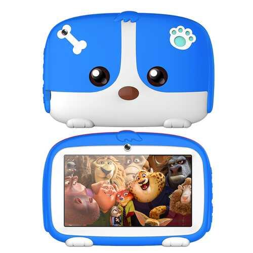 7inch Cartoon Puppy Tablet PC Android 4.4 1GB+8GB WiFi Dual Cameras LED Backlight Kid Laptop EU Plug blue_1GB+8GB