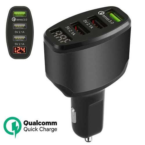 3-Port USB Car Charger Adapter Black