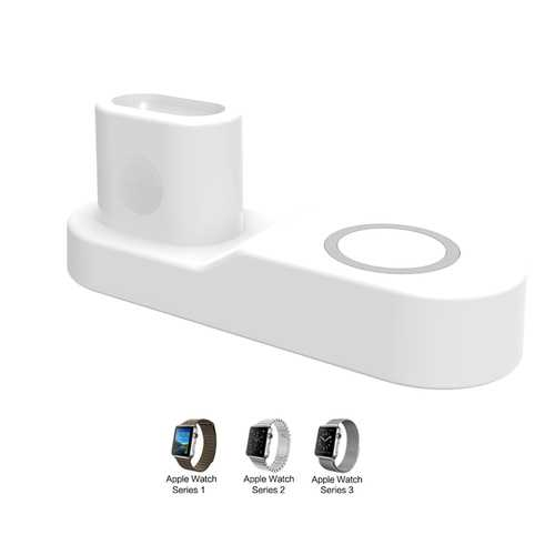 4 in 1 Wireless Charger for iphone X XS MAX XR 8 8 Plus 10 Samsung Gaxary S9 S8 Plus Apple AirPods iwatch 2 3 Accessory White US Plug