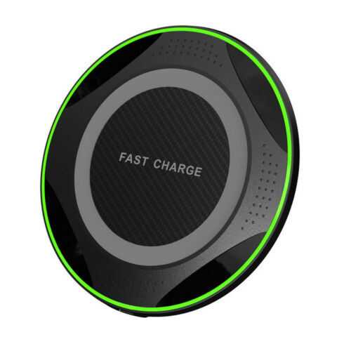 QI 10W Fast Wireless Charger Charging Pad for Huawei P30/Mate 20 Pro Samsung S10 black