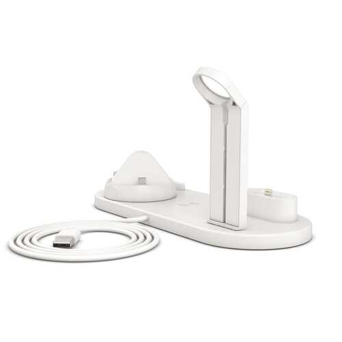 3 in1 Rotatable Wireless Charger Stand for iPhone Airpods Multi Function Charging Stand white